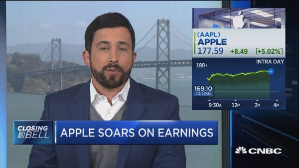 Apple the day's big mover. Here's why