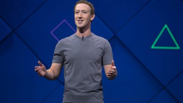 Facebook CEO Mark Zuckerberg speaks at the company's 2017 F8 developer conference in San Jose, Calif.