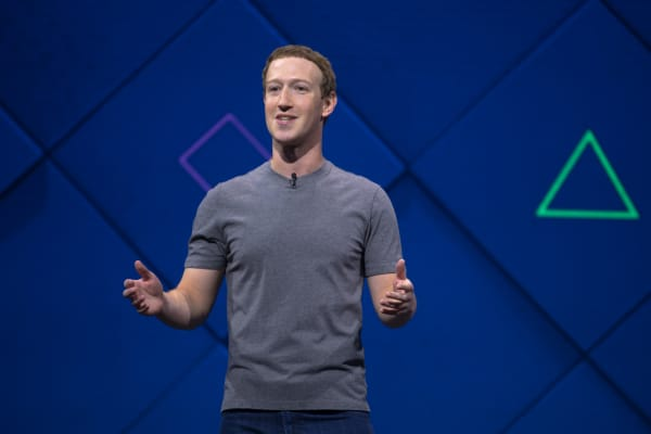 Facebook CEO Mark Zuckerberg speaks at the company's 2017 F8 developer conference in San Jose, Calif.