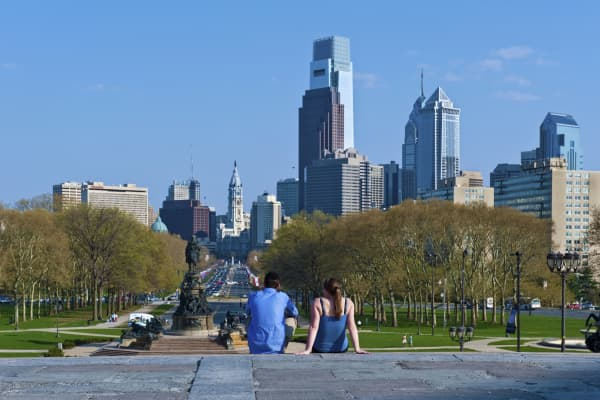 Philadelphia, Museum of Art; Rocky Steps to Downtown