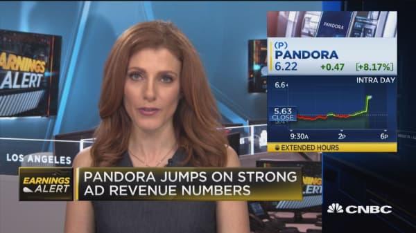 Pandora Media surges on earnings, revenue beat