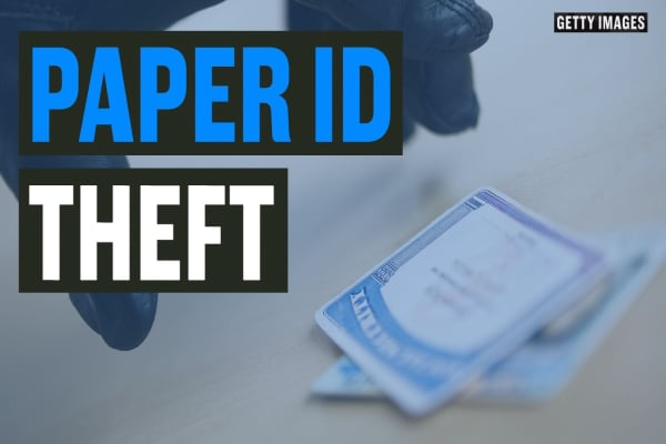 Managing analog ID theft risks