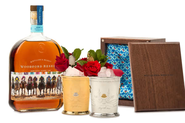 The Woodford Reserve $1,000 and $2,500 mint julep cups