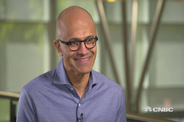 Watch CNBC's full interview with Microsoft CEO Satya Nadella