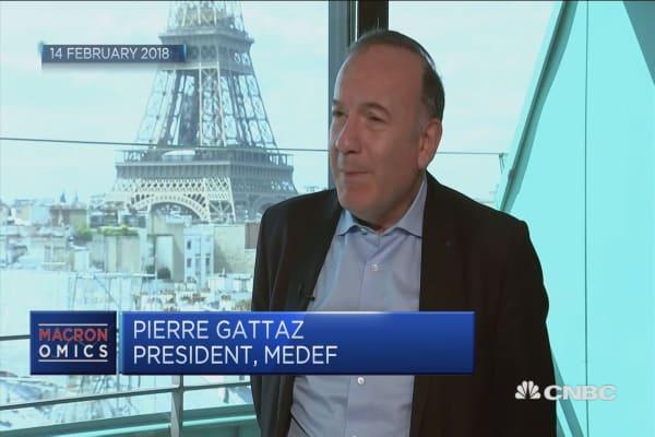 Macron is a pragmatic, pro-business guy, union boss says