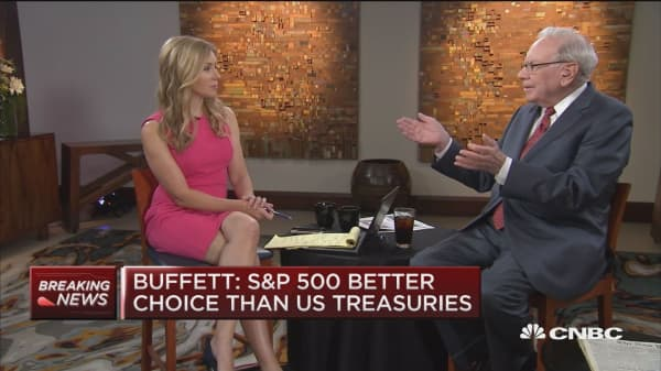 Buffett: Stocks are not in bubble situation now