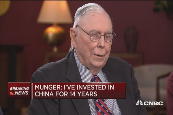 Munger: It would be insane for US and China not to develop a constructive relationship