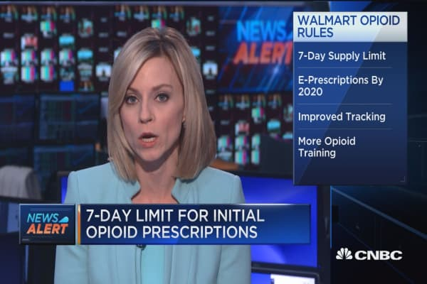 Walmart introduces new opioid policy