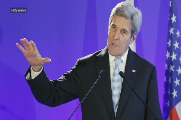President Trump warns John Kerry to butt out of Iran nuclear deal
