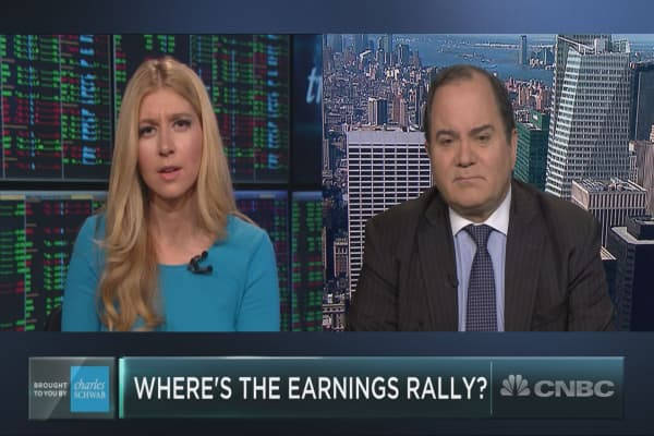 Earnings have been great, but stocks are flat. Here's one explanation why