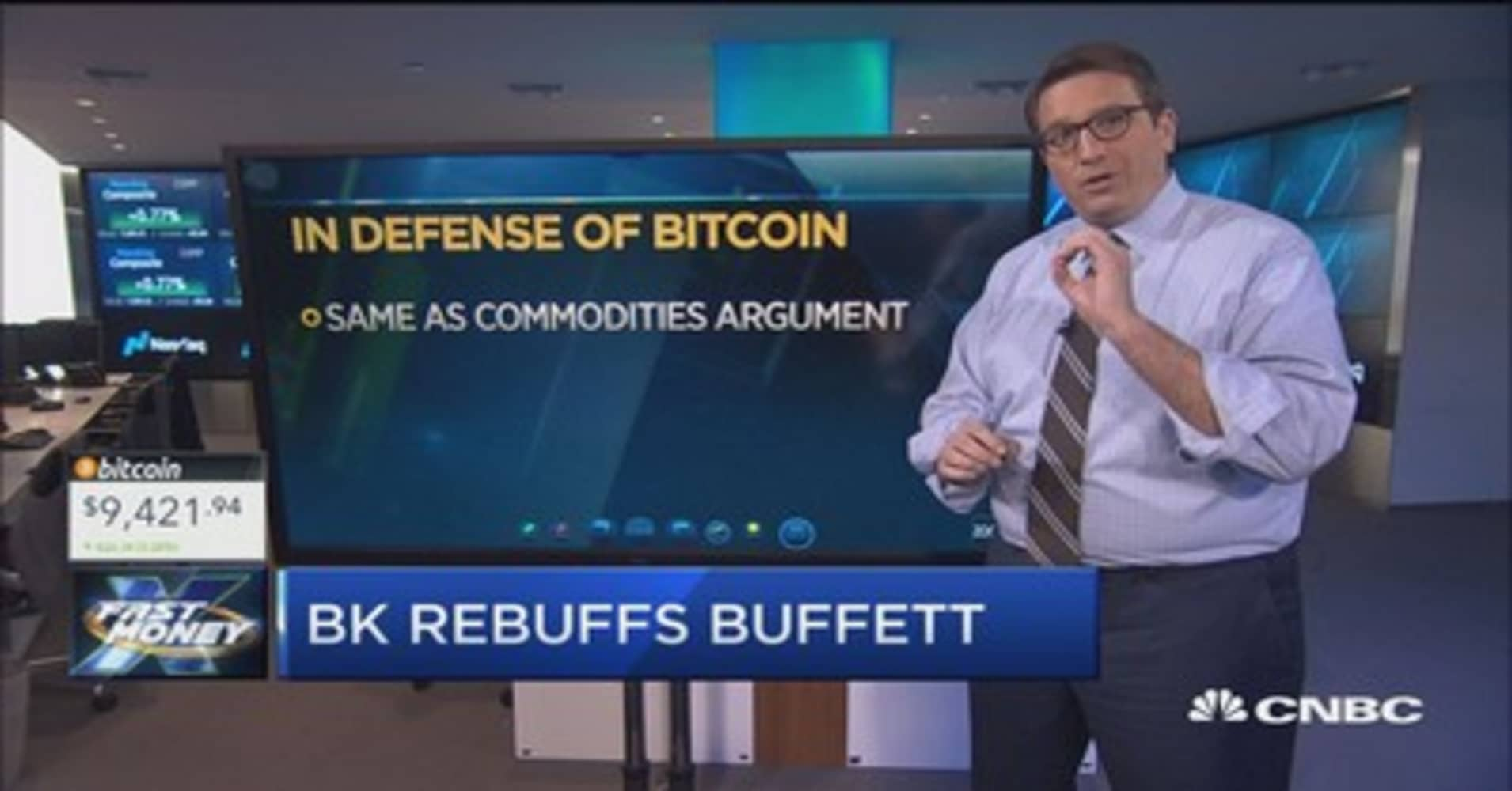 Trader rebuts Buffett's bitcoin comments