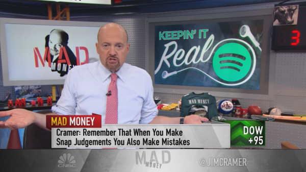 Cramer: Wall Street got Spotify's quarter all wrong—I'd be a buyer, not a seller