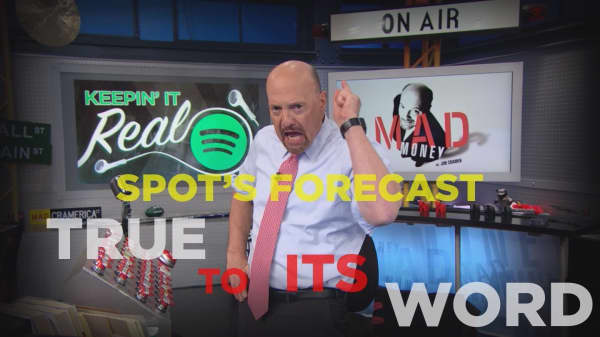 Cramer Remix: Spotify delivered on earnings—here's why investors dropped it anyway