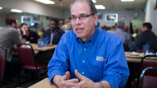 Mike Braun, who is running for the Republican nomination for Senate in Indiana.