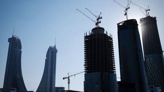 Construction in Manama, Bahrain