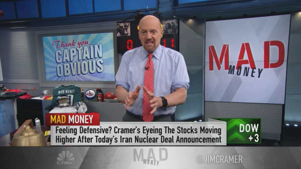 Cramer: Trump's Iran deal announcement showed just how 'stupid' this market is