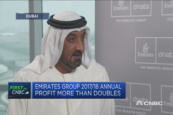 Emirates CEO: I'm pleased we passed the $1 billion profit mark