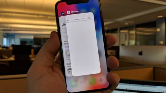 Gestures on the iPhone X