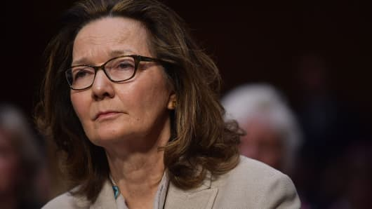 Gina Haspel arrives to testify before the Senate Intelligence Committee on her nomination to be the next CIA director in the Hart Senate Office Building on Capitol Hill in Washington, DC on May 9, 2018.