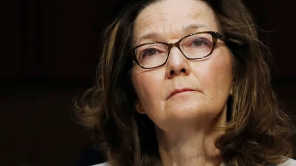 Acting CIA Director Gina Haspel testifies at her Senate Intelligence Committee confirmation hearing on Capitol Hill in Washington, May 9, 2018.