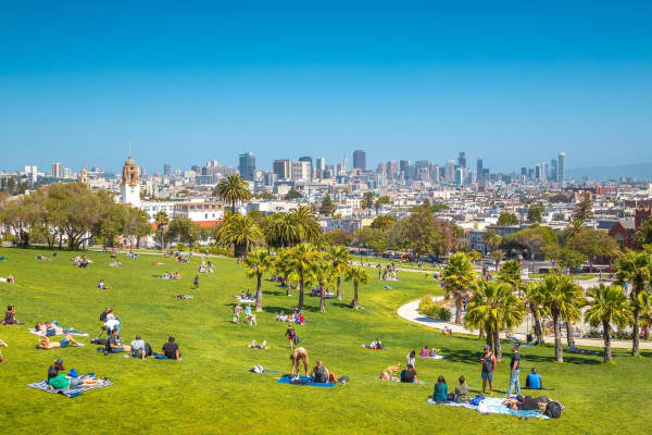 Mission Dolores Park in San Francisco, California