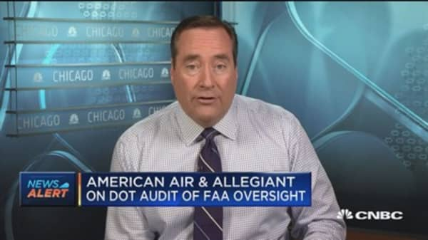 American Airlines and Allegiant on DOT audit of FAA oversight