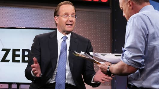 """Anders Gustafsson, CEO, Zebra Technologies with Jim Cramer on """"Mad Money."""""""