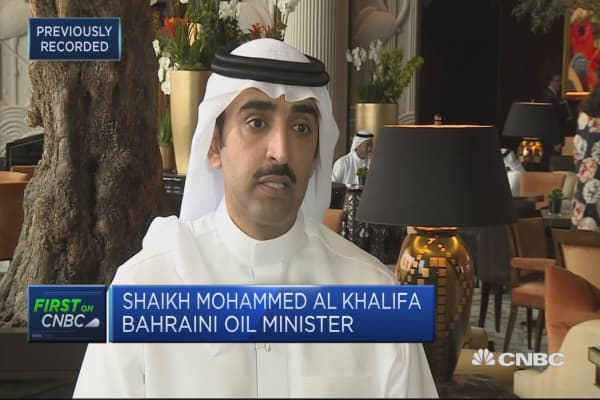 The investment is not quite back, says Bahrain oil minister