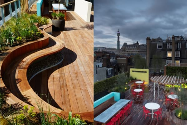 At Coca-Cola's GB HQ, staff can relax out in the open on the roof terrace