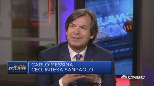 Italy is in good shape, Intesa CEO says