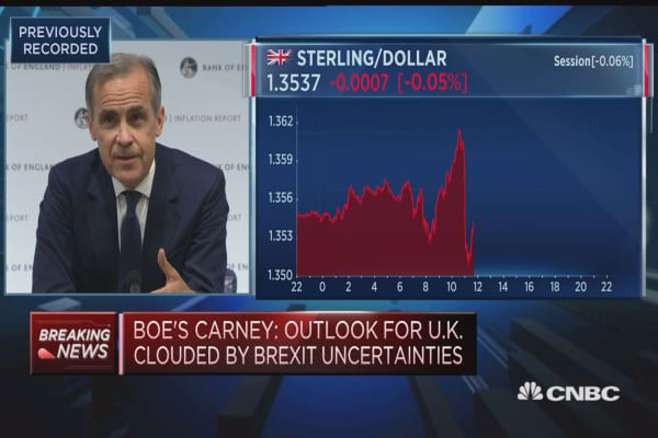Businesses in a position to prepare for rate rise, BOE's Carney says