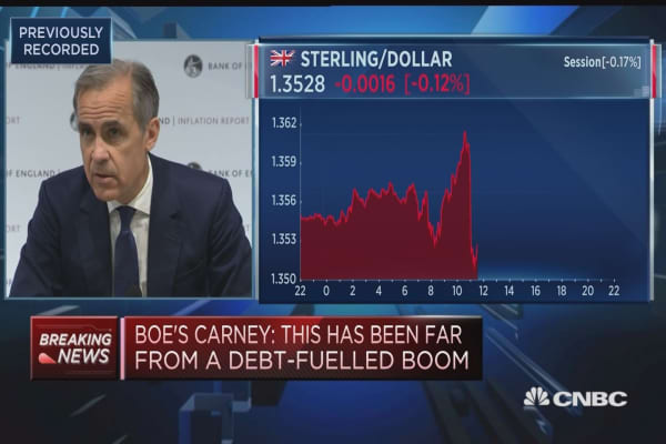 Period of bad weather had impact, BOE's Carney says