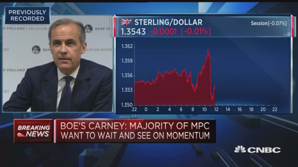Households not fixated on when we raise rates, BOE's Carney says