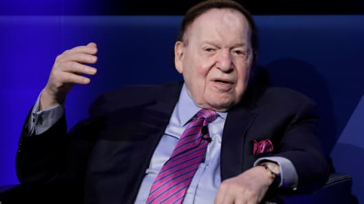 Sheldon Adelson, chairman and chief executive officer of Las Vegas Sands Corp.