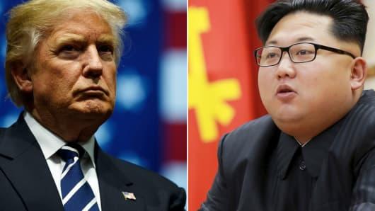 President Donald Trump and North Korean leader Kim Jong-Un.