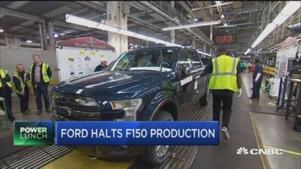Ford reaffirms full-year earnings guidance despite halting production of F150 models