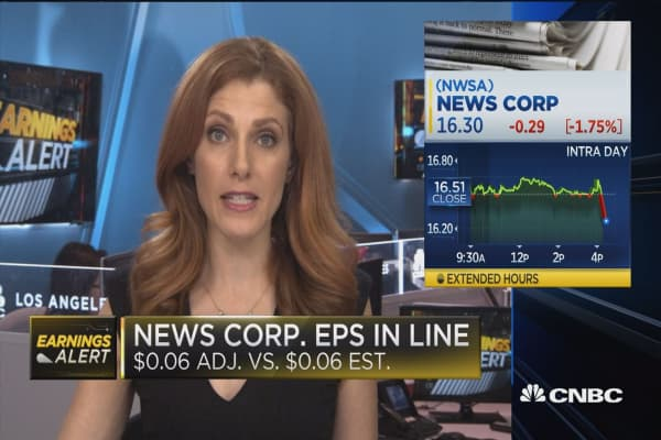 New Corp. earnings in line with estimates