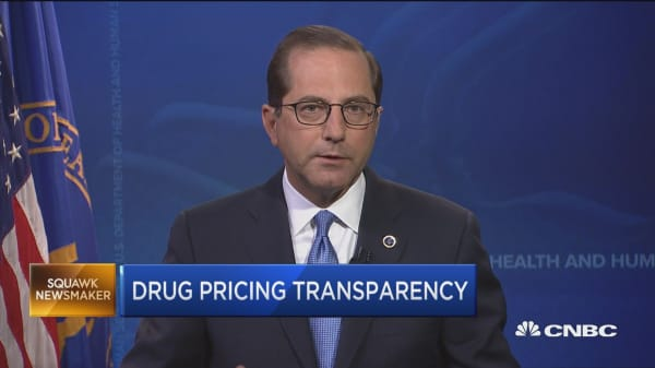Watch HHS Secretary Alex Azar talk Trump's drug price plans