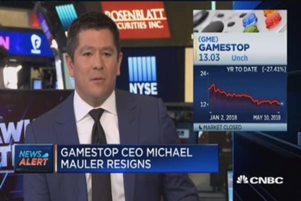 GameStop CEO Michael Mauler resigns