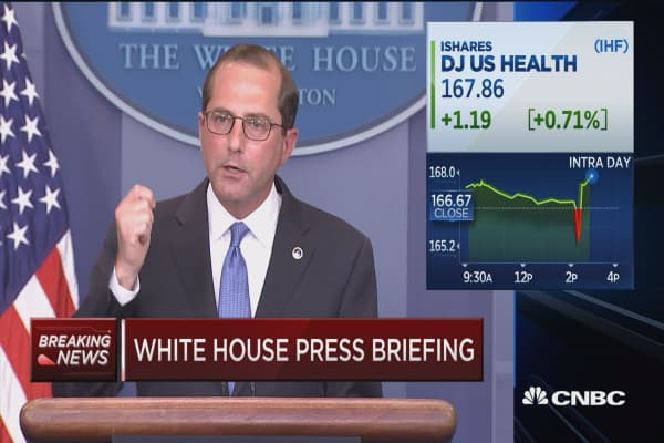 HHS Sec. Azar briefs media on Trump's drug price plans
