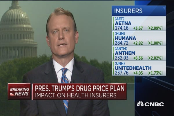 How Trump's drug price plan will affect health insurers
