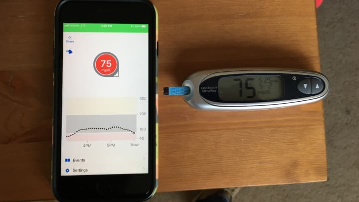 After 2 days, the sensor could accurately read my blood sugar.