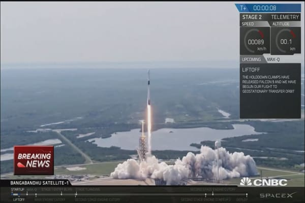 SpaceX launches upgraded Falcon 9 rocket