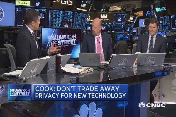 Cramer on Apple CEO Tim Cook's privacy pitch