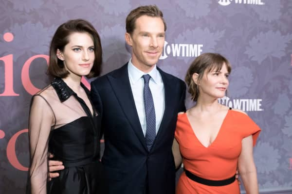 Co-stars Allison Williams, Benedict Cumberbatch and Jennifer Jason Leigh attend the 'Patrick Melrose' series premiere