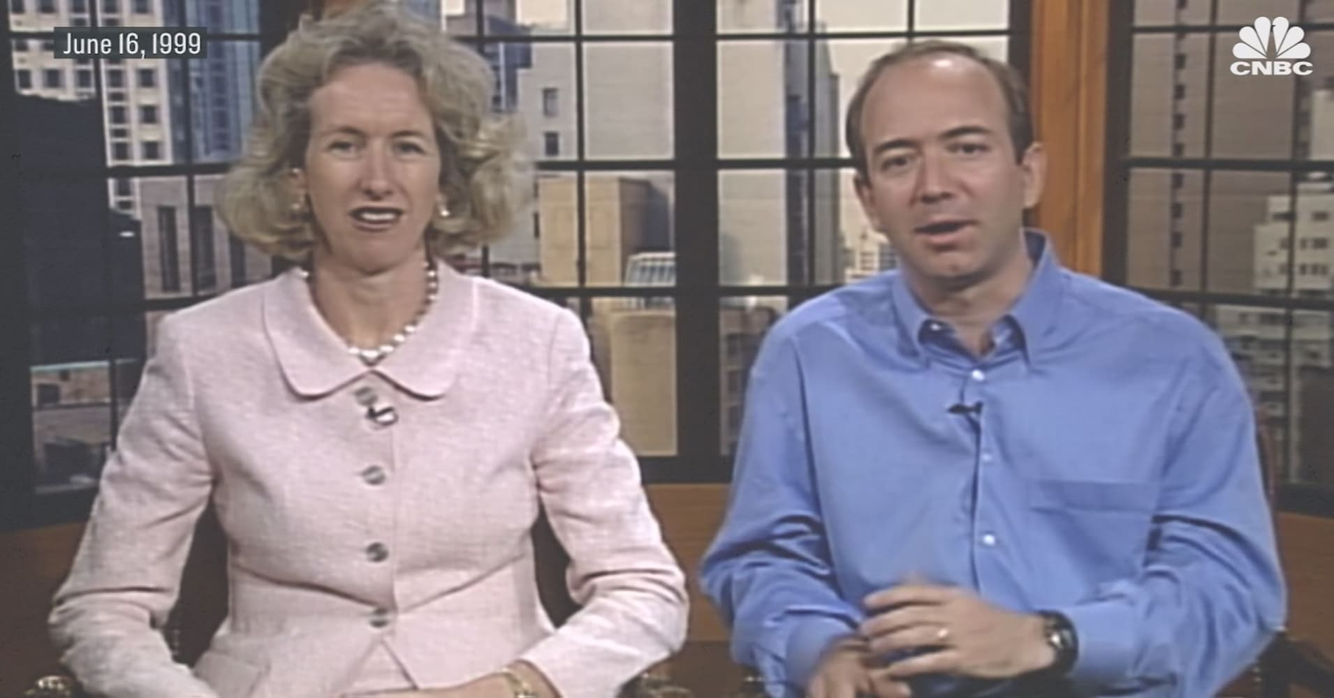 Amazon Ceo Jeff Bezos Speaks To Cnbc In 1999 About Its Sotheby S Deal