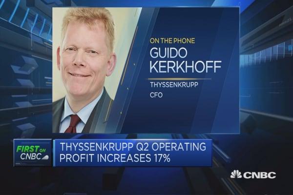 Thyssenkrupp CFO: We've had our best first quarter since 2011