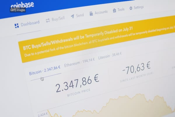 Cryptocurrency exchange Coinbase is trying to lure big institutional investors into the volatile market