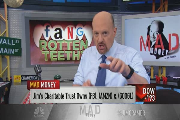 Cramer: FANG isn't dead, just giving the market a breather