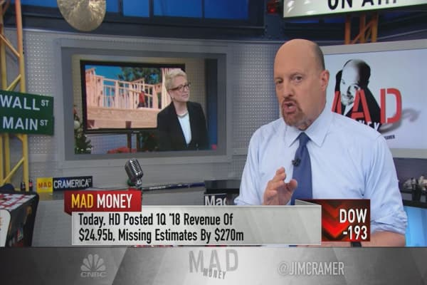Cramer calls on investors to listen to Home Depot's conference call after earnings miss